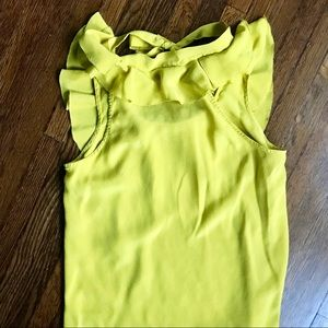 Forever 21 Tops - Love 21 Yellow-Green Blouse